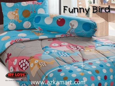 Sprei Love Single Terbaru Funny Bird