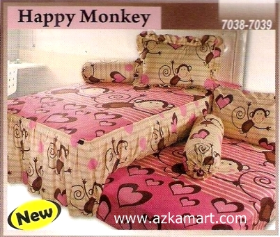 Sprei Sorong 2 in 1 My Love Duo Happy Monkey