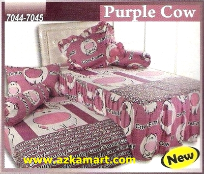Sprei Sorong 2 in 1 My Love Duo Purple Cow