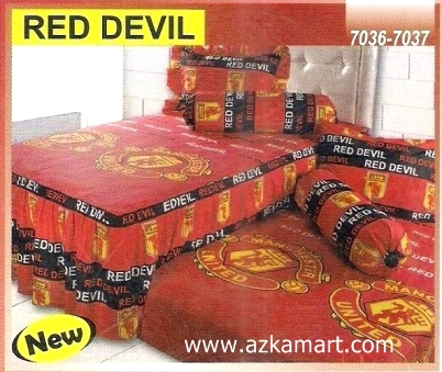 Sprei Sorong 2 in 1 My Love Duo Red Devil
