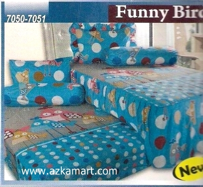 Sprei Sorong 2 in 1 My Love Duo Funny Bird