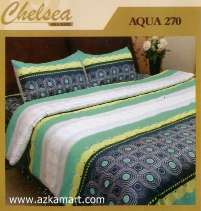 Sprei Bed Cover Chelsea Aqua