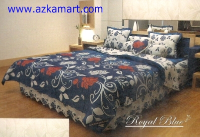 bed cover kintakun Royal Blue