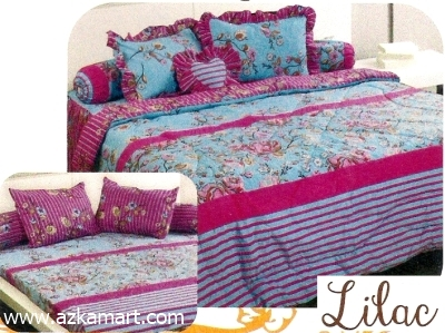 jual grosir sprei bed cover My Love Lilac