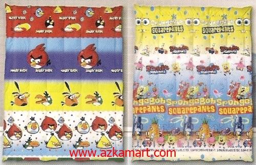 jual grosir murah Selimut Ananda F Angry Birds - Spongebob