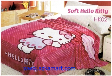 32 Selimut Blossom HK02 Soft Hello Kitty