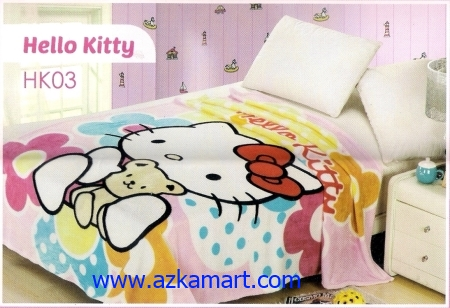 33 Selimut Blossom HK03 Hello Kitty