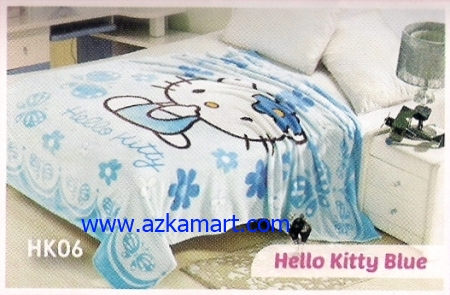 36 Selimut Blossom HK06 Hello Kitty Blue