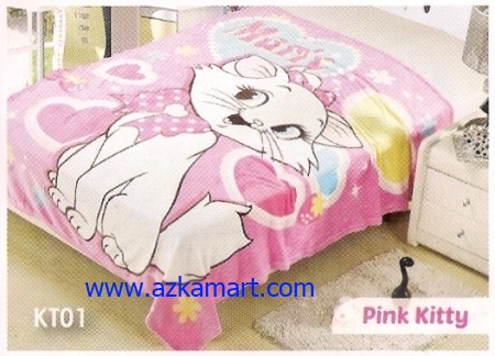 38 Selimut Blossom KT01 Pink Kitty