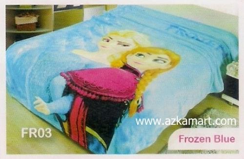 grosir online Selimut Blossom Frozen Blue