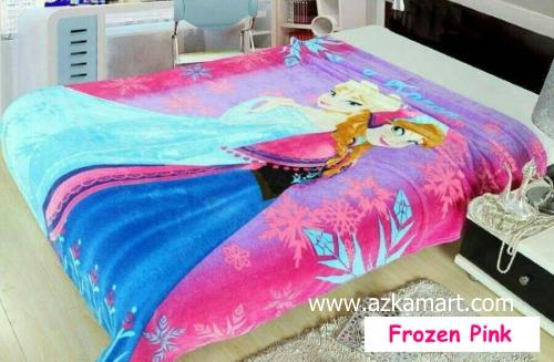 grosir online Selimut Blossom Frozen Pink