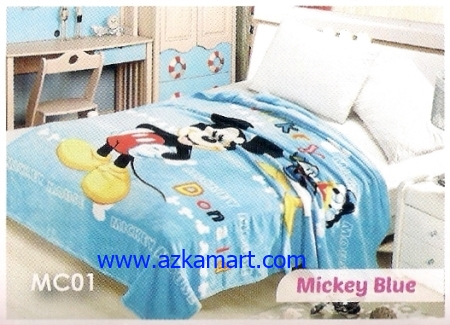 39 Selimut Blossom MC01 Mickey Blue