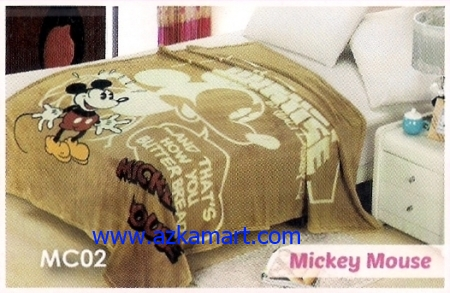 40 Selimut Blossom MC02 Mickey Mouse
