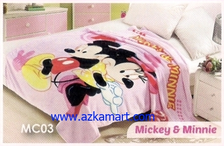 41 Selimut Blossom MC03 Mickey Minnie