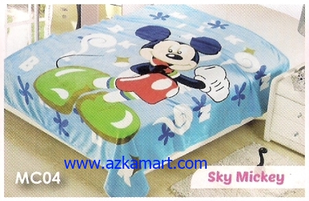 soft panel Selimut Blossom MC04 Sky Mickey