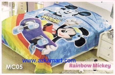 43 Selimut Blossom MC05 Rainbow Mickey