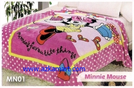 soft panel Selimut Blossom MN01 Minnie Mouse