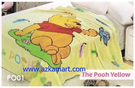 jual Selimut Blossom PO01 The Pooh Yellow