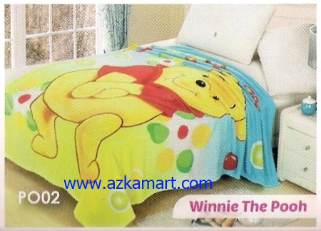 jual Selimut Blossom PO02 Winnie The Pooh