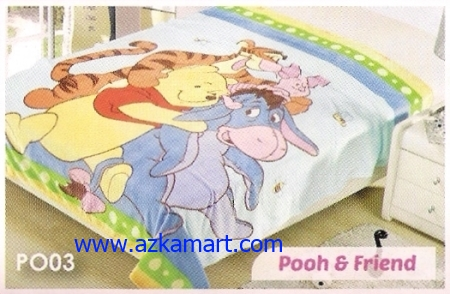 jual Selimut Blossom PO03 Pooh n Friend