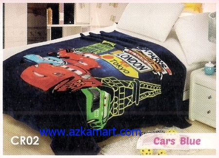 jual Selimut Blossom CR02 Cars Blue