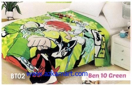 jual Selimut Blossom BT02 Ben 10 Green