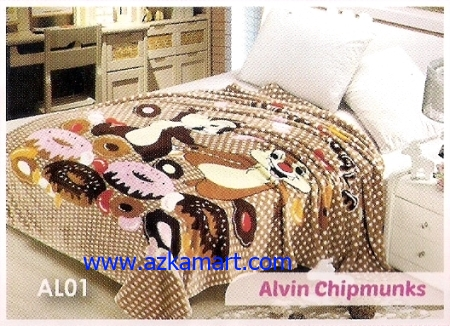 jual Selimut Blossom AL01 Alvin Chipmunks
