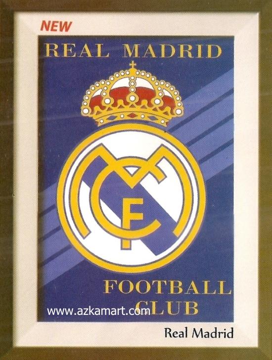 motif gambar planel Selimut Internal Real Madrid