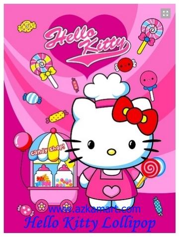jual selimut grosir murah Hello Kitty Lolypop