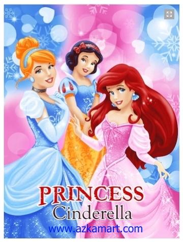 jual selimut grosir murah Princess Cinderella