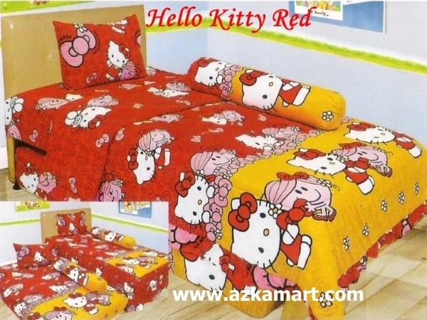 jual online murah Sprei Lady Rose Hello Kitty Red