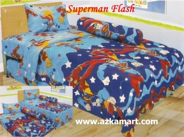 jual online murah Sprei Lady Rose Superman Flash