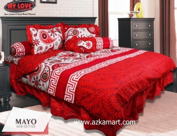 jual online sprei bedcover my love mayo