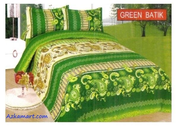jual sprei bonita 3d katalog motif batik green