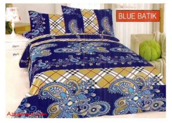 jual sprei bonita 3d katalog motif batik blue
