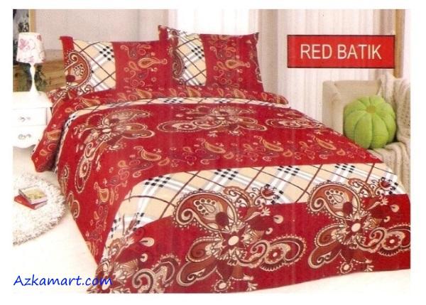 jual sprei bonita 3d katalog motif batik red