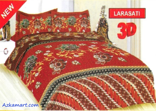 jual sprei bonita 3d katalog motif batik larasati
