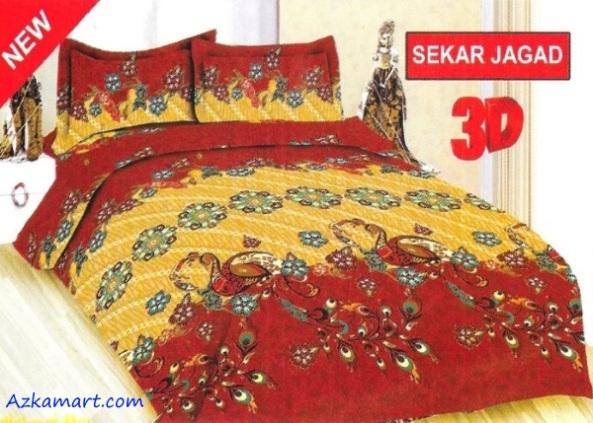 jual sprei bonita 3d katalog motif batik sekar jagad