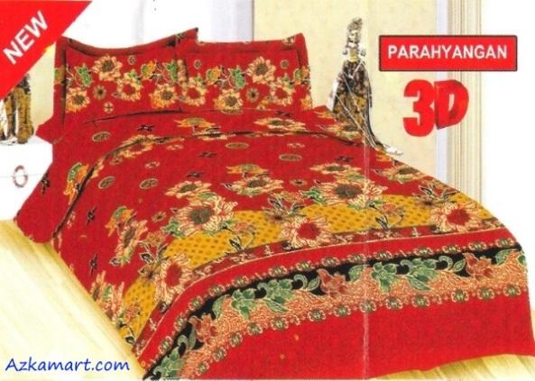 jual sprei bonita 3d katalog motif batik parahyangan