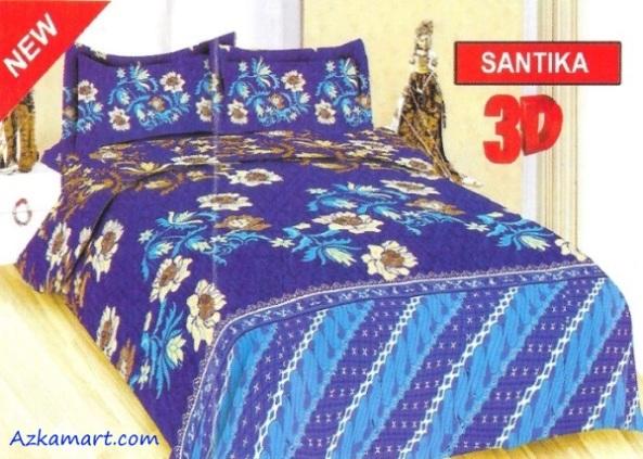jual sprei bonita 3d katalog motif batik santika