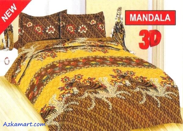 jual sprei bonita 3d katalog motif batik mandala