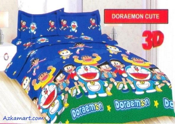 jual sprei bonita motif karakter kartun anak doraemon
