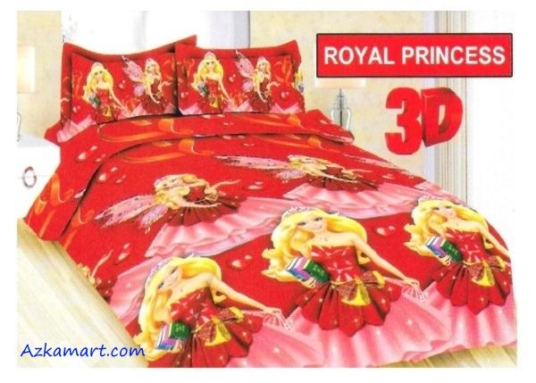 jual sprei bonita motif karakter kartun anak royal princess