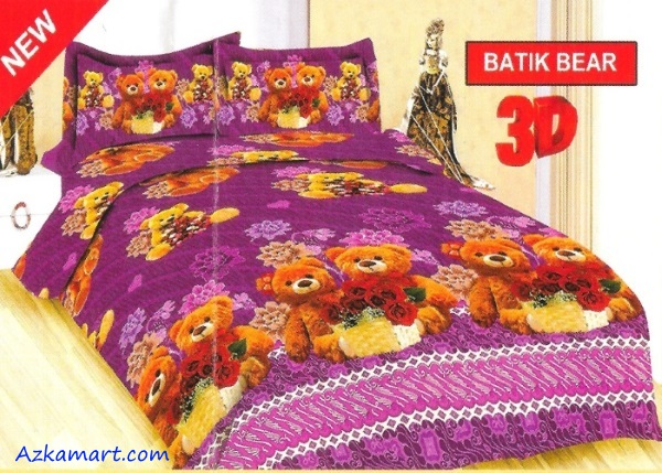jual sprei bonita motif karakter kartun anak batik bear