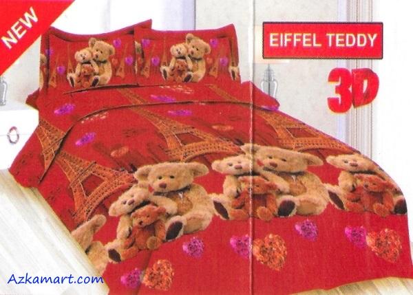 jual sprei bonita motif karakter kartun anak eiffle teddy
