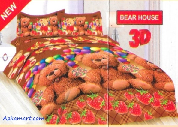 jual sprei bonita motif karakter kartun anak bear house