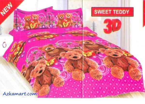 jual sprei bonita motif karakter kartun anak sweet teddy